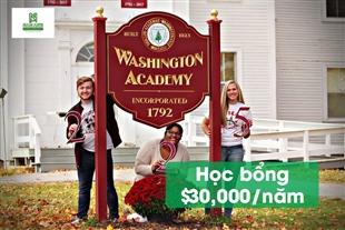 Học bổng du học Mỹ lên đến 30,000 USD từ trường Washington Academy