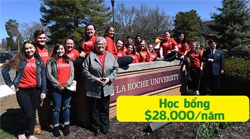 Học bổng du học Mỹ lên đến $28,000 từ La Roche University - Đại học nổi bật của tiểu bang Pennsylvania