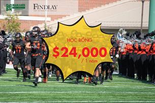 Đừng bỏ lỡ cơ hội sở hữu học bổng Mỹ lên đến $24,000/năm từ The University Of Findlay
